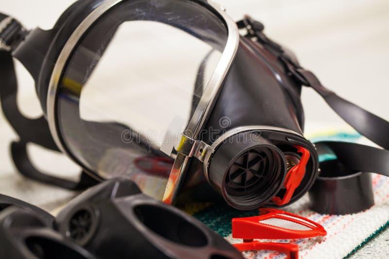 Μάσκα αναπνευστικών συσκευών από τη berman πυροσβεστική στοκ φωτογραφίες