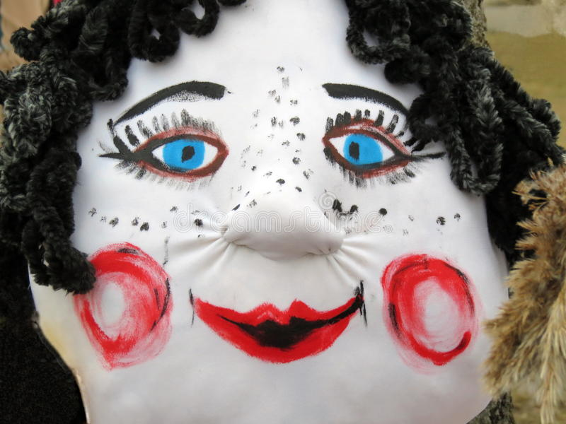 Μάσκα-γυναίκα της Mardi Gras στοκ εικόνα με δικαίωμα ελεύθερης χρήσης