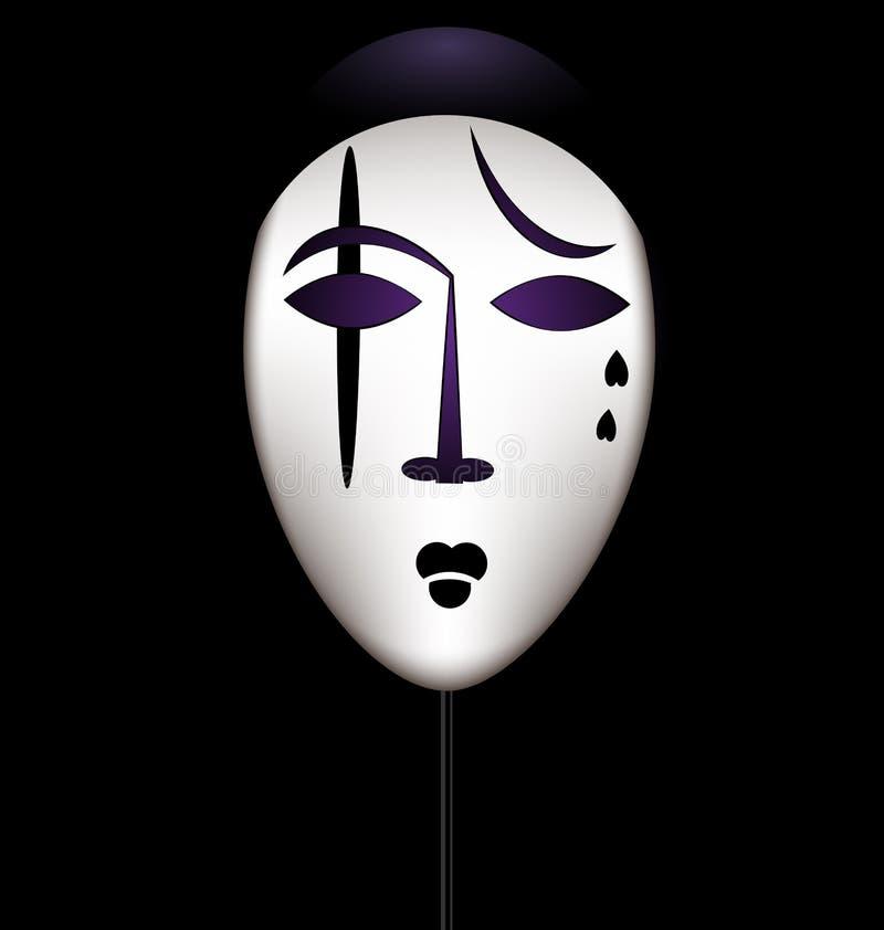 Μάσκα ενός λυπημένου κλόουν ελεύθερη απεικόνιση δικαιώματος