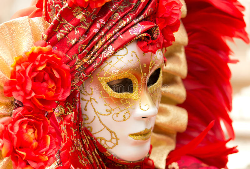 Μάσκα καρναβαλιού στη Βενετία στοκ εικόνες