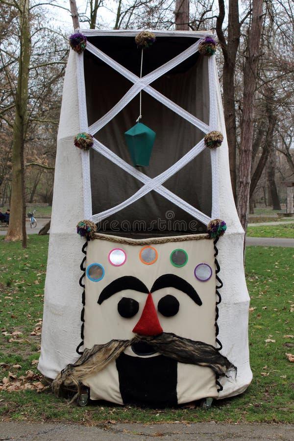 Μάσκα 2 μίμων με προσωπείο στοκ εικόνες με δικαίωμα ελεύθερης χρήσης