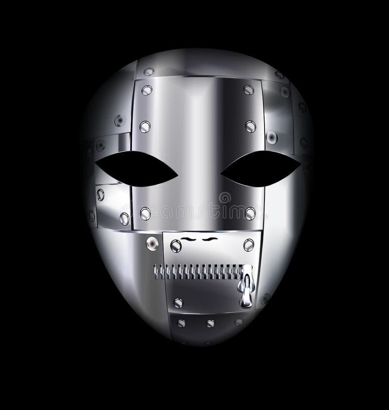 Μάσκα μετάλλων καρναβαλιού διανυσματική απεικόνιση