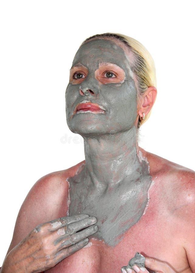 Μάσκα προσώπου αργίλου στοκ εικόνες