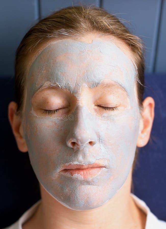 μάσκα προσώπου αργίλου στοκ φωτογραφίες