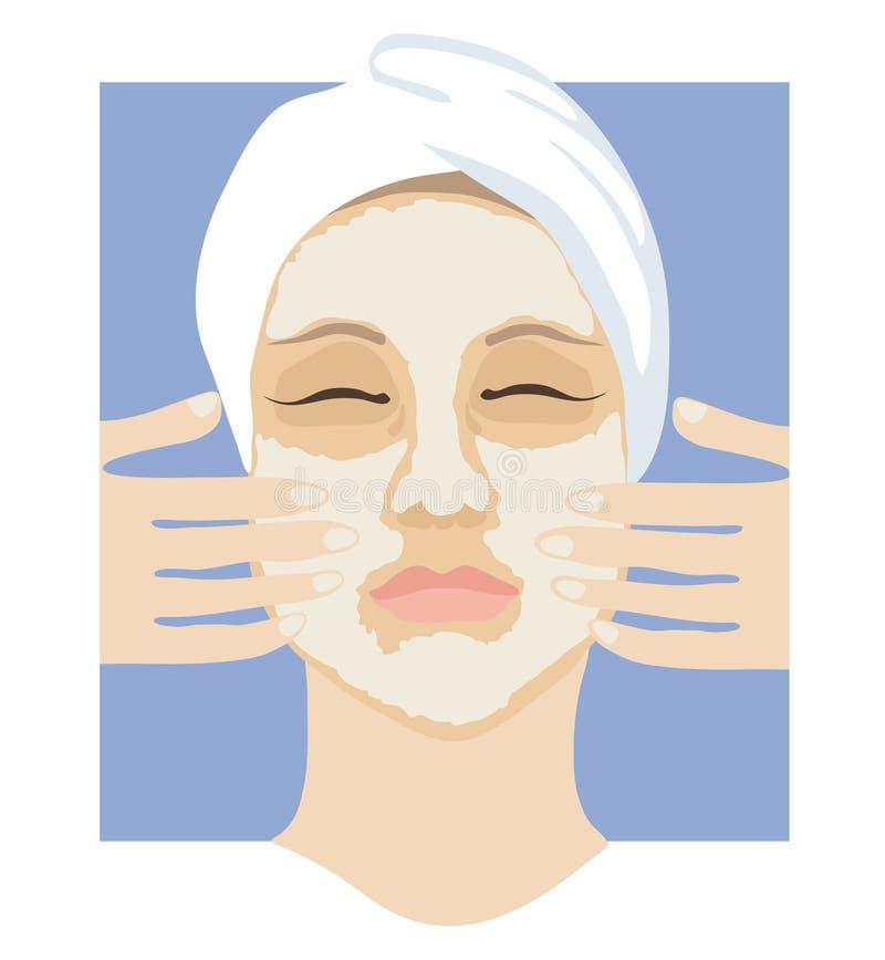 μάσκα προσώπου διανυσματική απεικόνιση