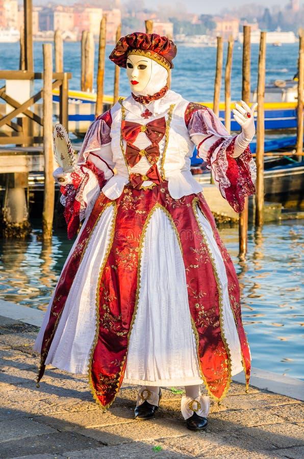 Μάσκα στο τετράγωνο σημαδιών του ST στη Βενετία στοκ φωτογραφίες