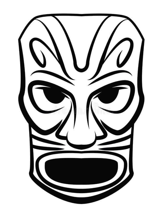 Μάσκα τοτέμ διανυσματική απεικόνιση