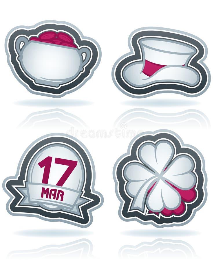 Μάσκα ψαλιδίσματος του ST Patric Day απεικόνιση αποθεμάτων