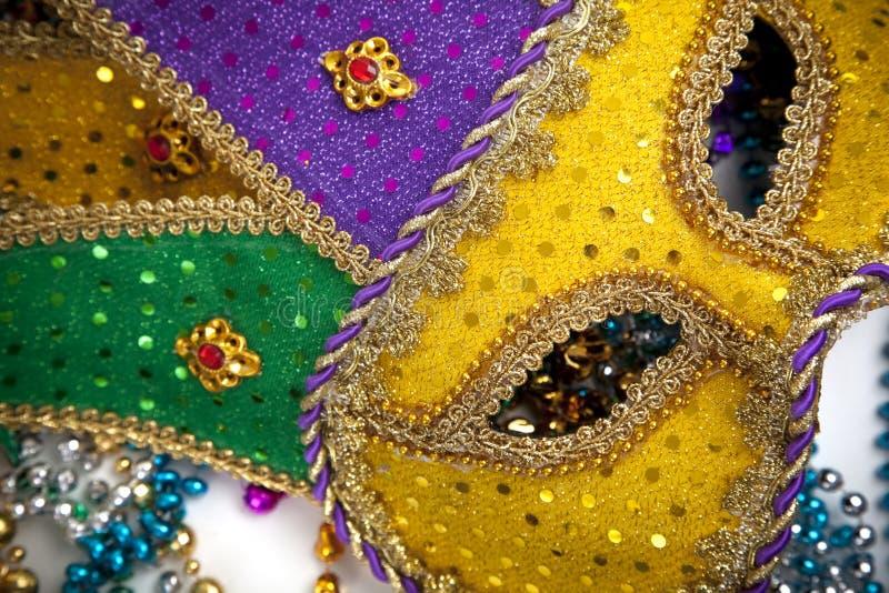 μάσκα mardi gras χαντρών στοκ εικόνα