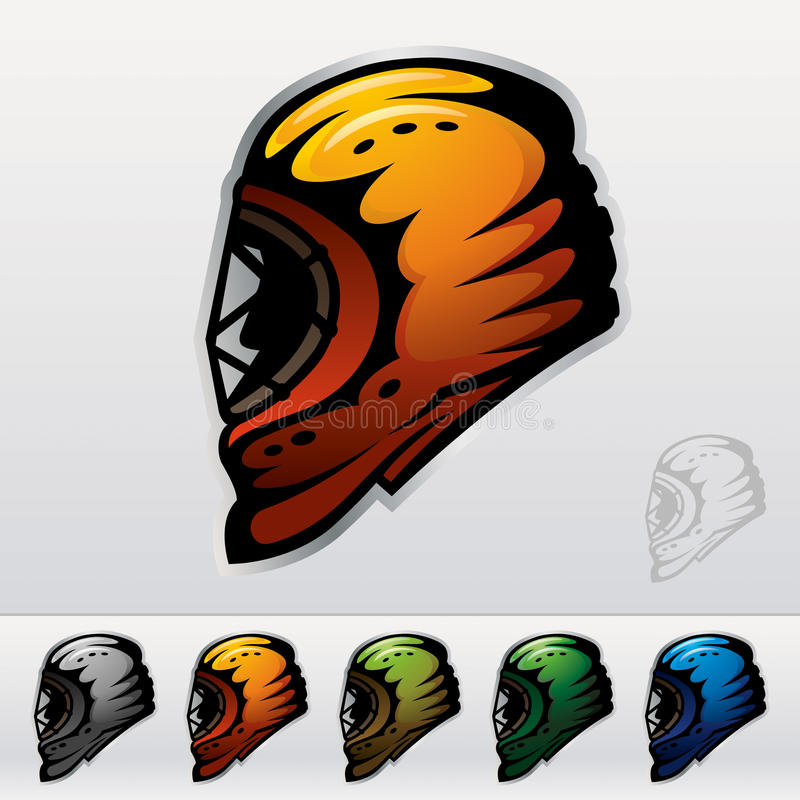 μάσκες πάγου χόκεϋ απεικόνιση αποθεμάτων