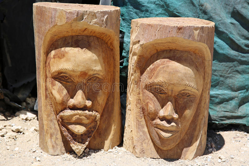 Μάσκες της Αφρικής στοκ εικόνα με δικαίωμα ελεύθερης χρήσης