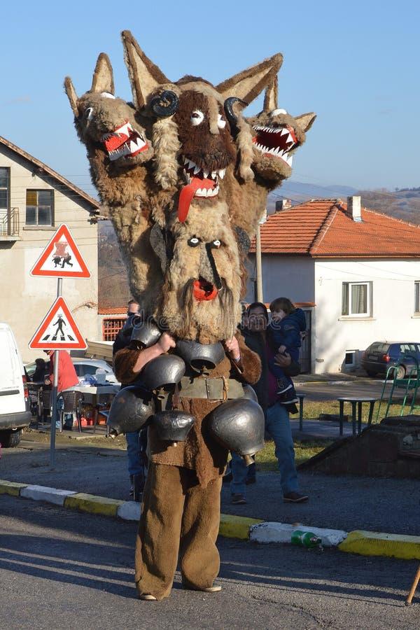 Μάσκες mummers' Kukeri †«παραδοσιακές βουλγαρικές στοκ φωτογραφία με δικαίωμα ελεύθερης χρήσης