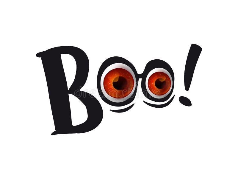 Μάτια αποκριών με το boo ελεύθερη απεικόνιση δικαιώματος