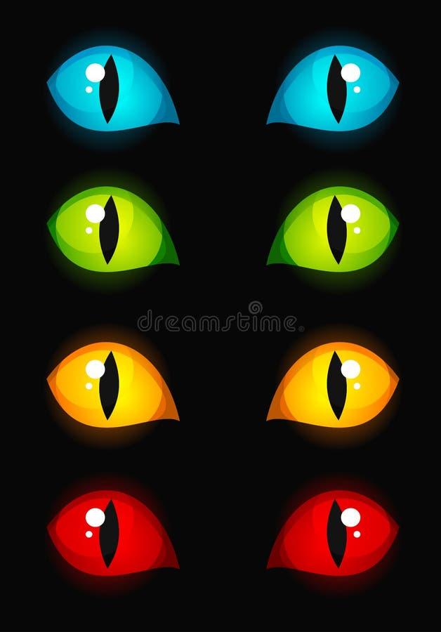 μάτια γατών απεικόνιση αποθεμάτων