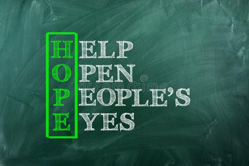 Μάτια ελπίδας στοκ εικόνες