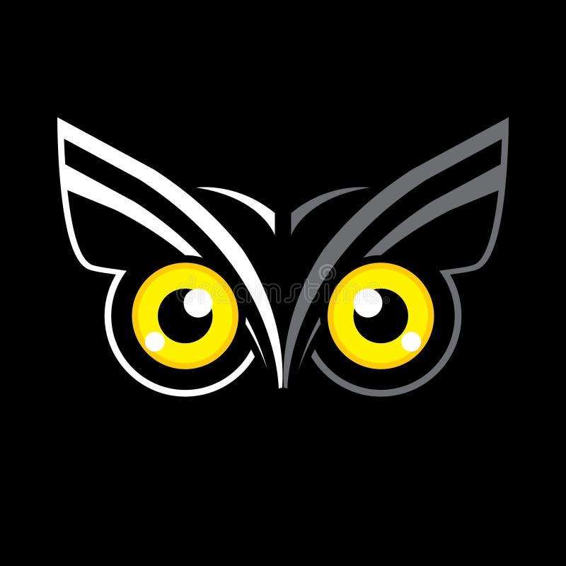 Μάτια κουκουβαγιών διανυσματική απεικόνιση