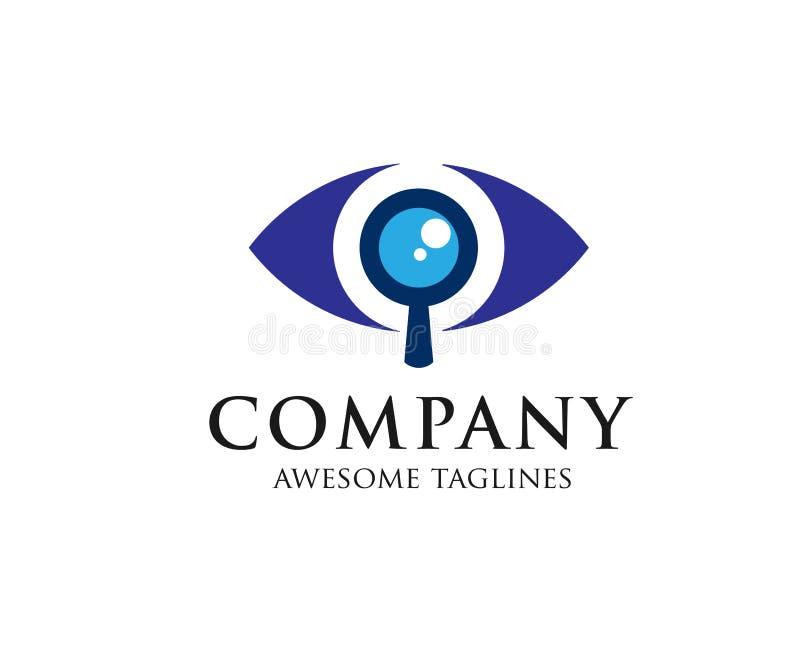 Μάτια με μια ενίσχυση - γυαλί απεικόνιση αποθεμάτων