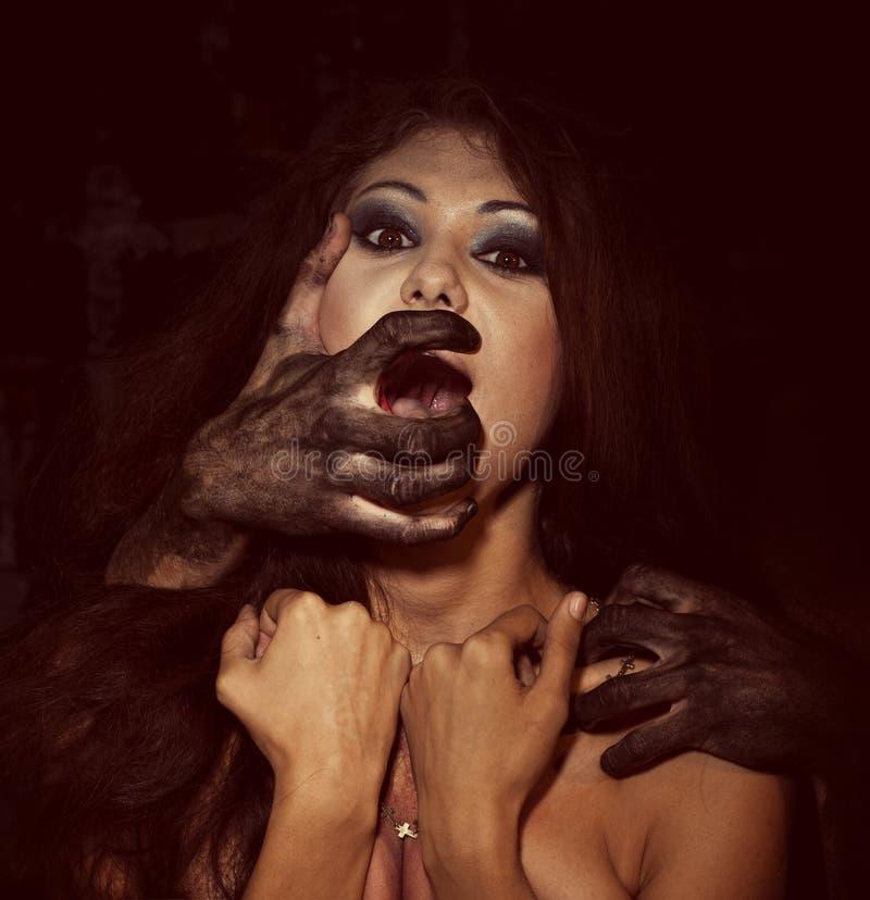 Download Μάτια φρίκης στοκ εικόνα. εικόνα από τρελλός, φόβος, μάτια - 62720465