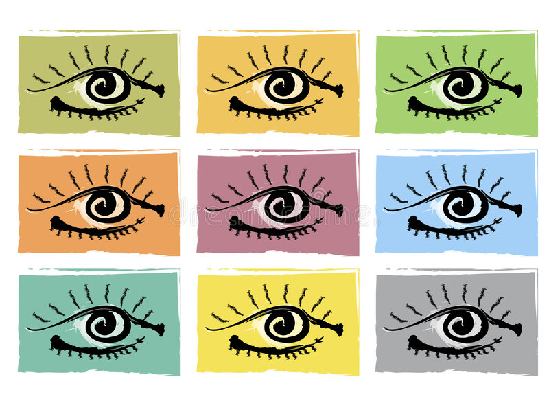 μάτια ελεύθερη απεικόνιση δικαιώματος