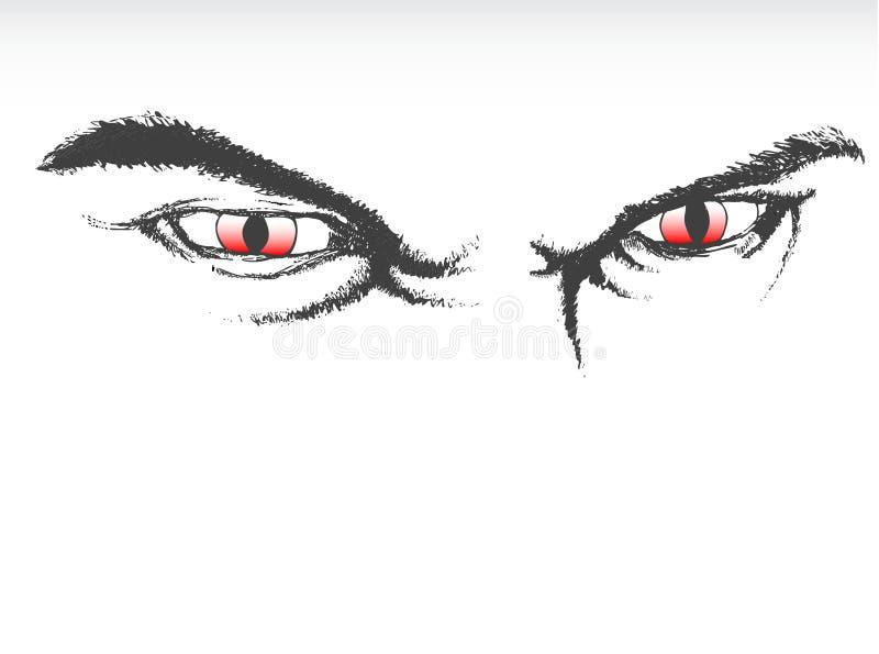 μάτια scary απεικόνιση αποθεμάτων