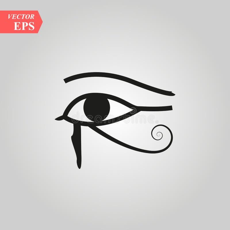 Μάτι ήλιων Horus - αντίστροφο μάτι φεγγαριών του ΜΑΤΙΟΥ Thoth HORUS - αρχαίο αιγυπτιακό σύμβολο εικόνας της προστασίας απεικόνιση αποθεμάτων