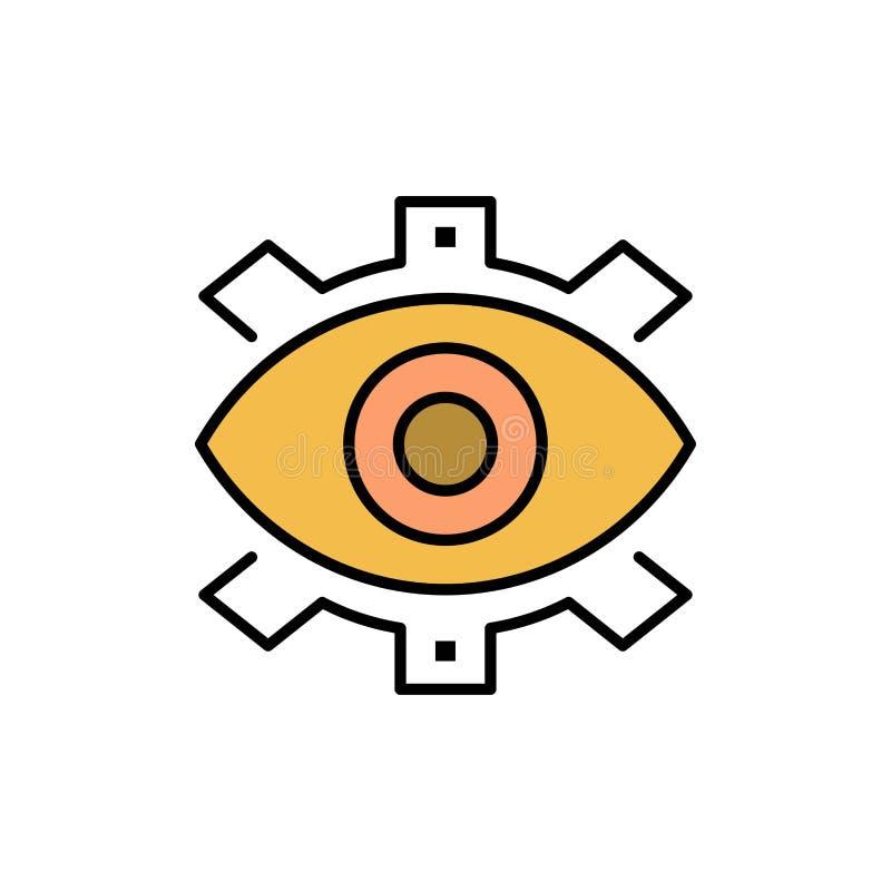 Μάτι, δημιουργικό, παραγωγή, επιχείρηση, δημιουργικός, σύγχρονος, επίπεδο εικονίδιο χρώματος παραγωγής Διανυσματικό πρότυπο εμβλη απεικόνιση αποθεμάτων