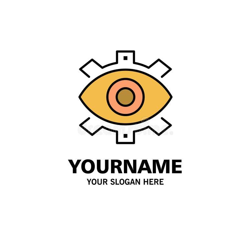 Μάτι, δημιουργικό, παραγωγή, επιχείρηση, δημιουργικός, σύγχρονος, πρότυπο επιχειρησιακών λογότυπων παραγωγής Επίπεδο χρώμα ελεύθερη απεικόνιση δικαιώματος