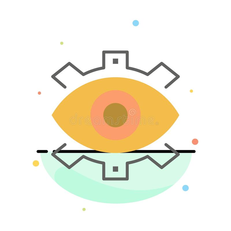 Μάτι, δημιουργικό, παραγωγή, επιχείρηση, δημιουργικός, σύγχρονος, αφηρημένο επίπεδο πρότυπο εικονιδίων χρώματος παραγωγής ελεύθερη απεικόνιση δικαιώματος