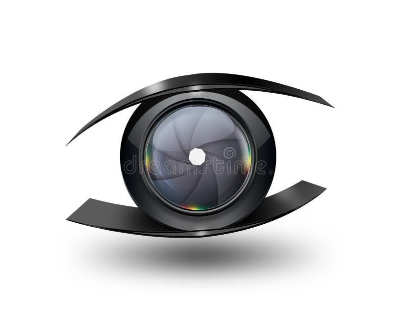 Μάτι καμερών διανυσματική απεικόνιση