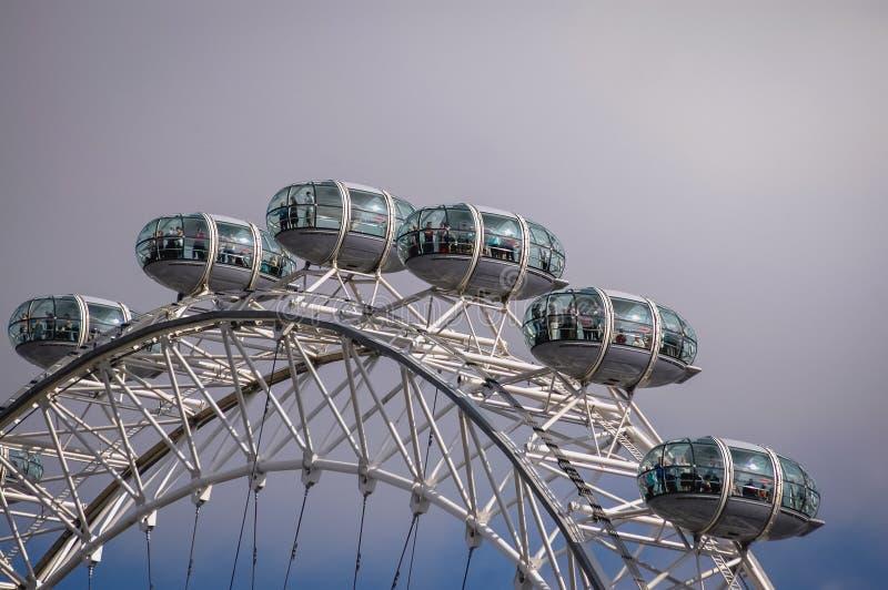 μάτι Λονδίνο πόλεων στοκ φωτογραφίες με δικαίωμα ελεύθερης χρήσης