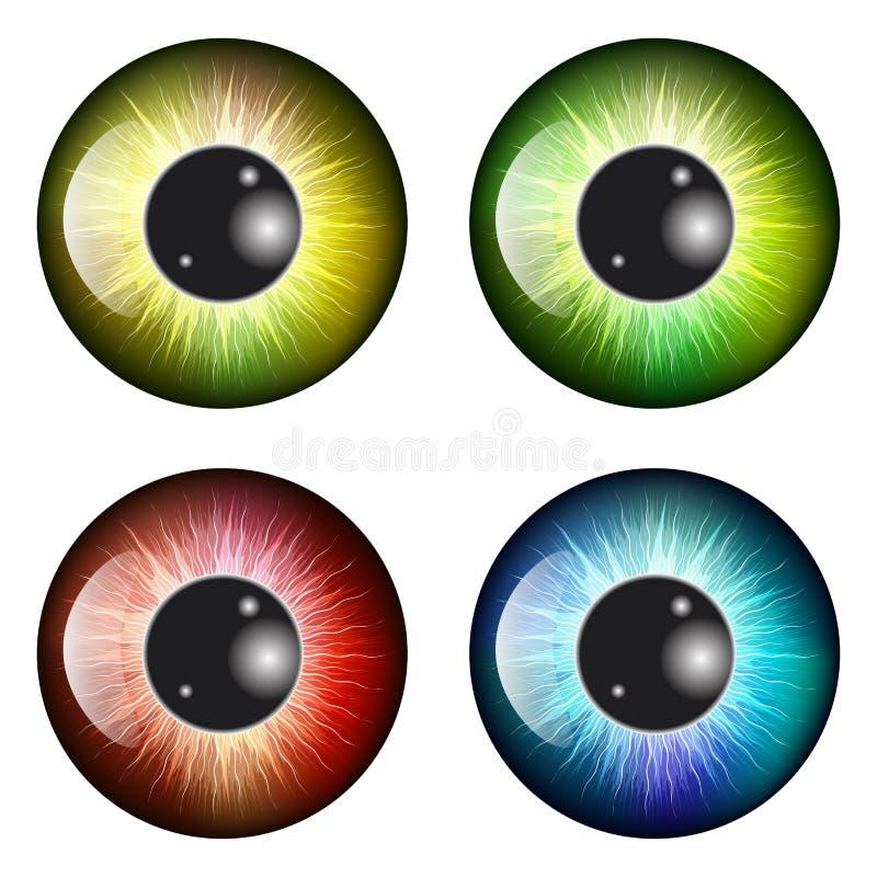 Μάτι, μαθητής, ίριδα, διανυσματικό σχέδιο εικονιδίων συμβόλων Όμορφο illustrat απεικόνιση αποθεμάτων