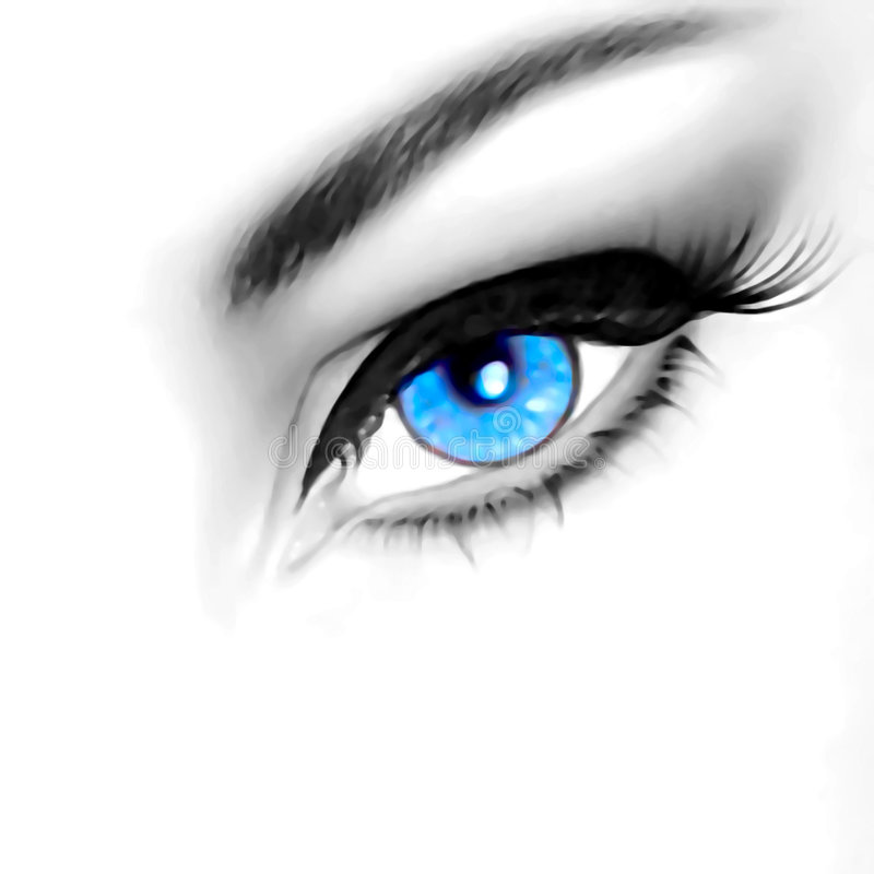 μάτι ομορφιάς διανυσματική απεικόνιση