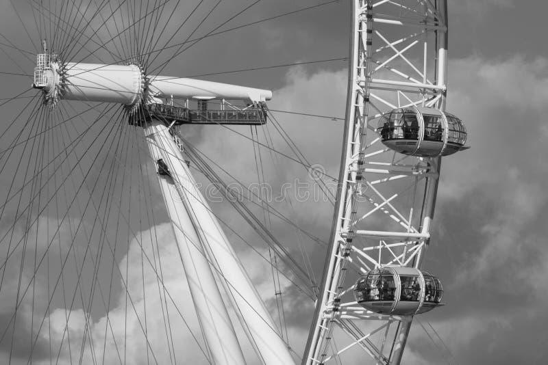 Μάτι του Λονδίνου γραπτό στοκ φωτογραφία