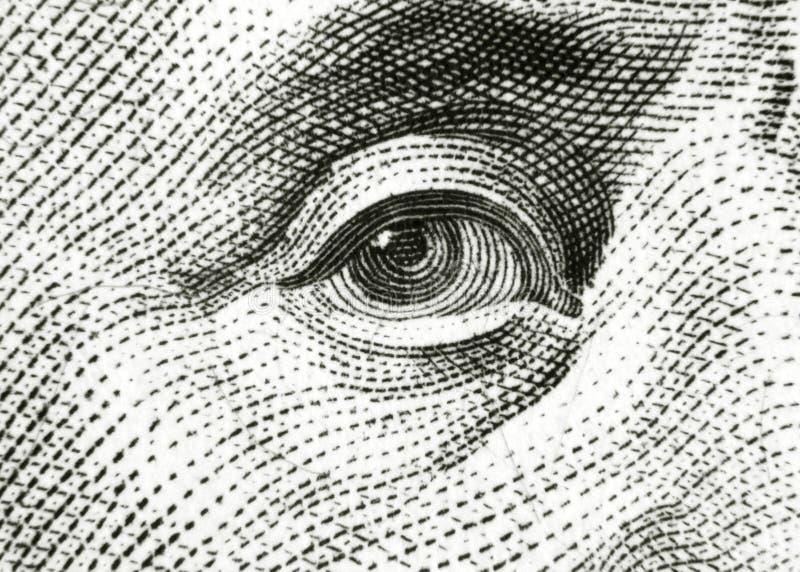 Μάτι του Benjamin Franklin στοκ φωτογραφίες με δικαίωμα ελεύθερης χρήσης