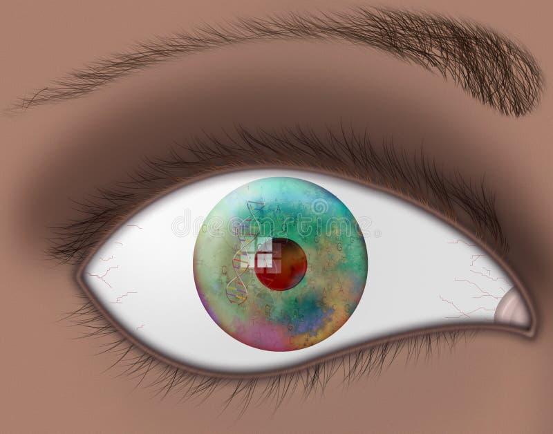 μάτι DNA διανυσματική απεικόνιση