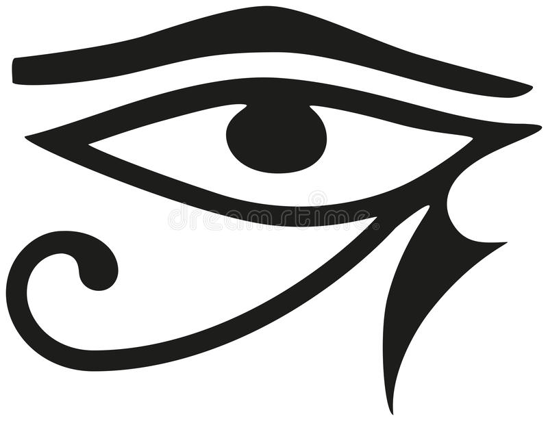 Μάτι Horus ελεύθερη απεικόνιση δικαιώματος