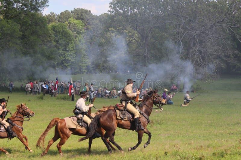 Μάχη εμφύλιου πολέμου στοκ φωτογραφία με δικαίωμα ελεύθερης χρήσης