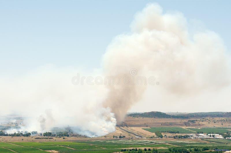 Μάχη στη συριακή πόλη Al-Qunaytirah κοντά στα ισραηλινά σύνορα στοκ εικόνα με δικαίωμα ελεύθερης χρήσης