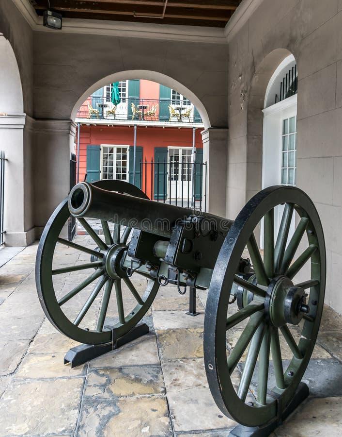 Μάχη της Νέας Ορλεάνης της Νέας Ορλεάνης Canon στοκ φωτογραφία με δικαίωμα ελεύθερης χρήσης
