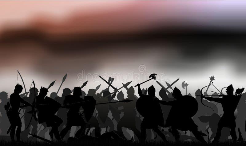 μάχη ελεύθερη απεικόνιση δικαιώματος