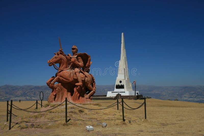 Μάχη Ayacucho στοκ φωτογραφίες με δικαίωμα ελεύθερης χρήσης