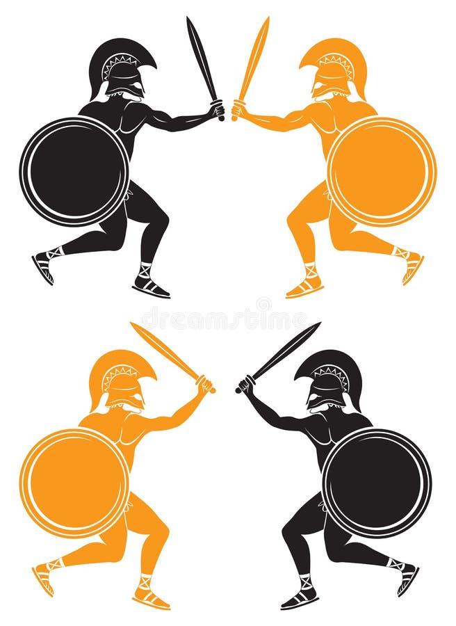 Μάχη gladiators διανυσματική απεικόνιση