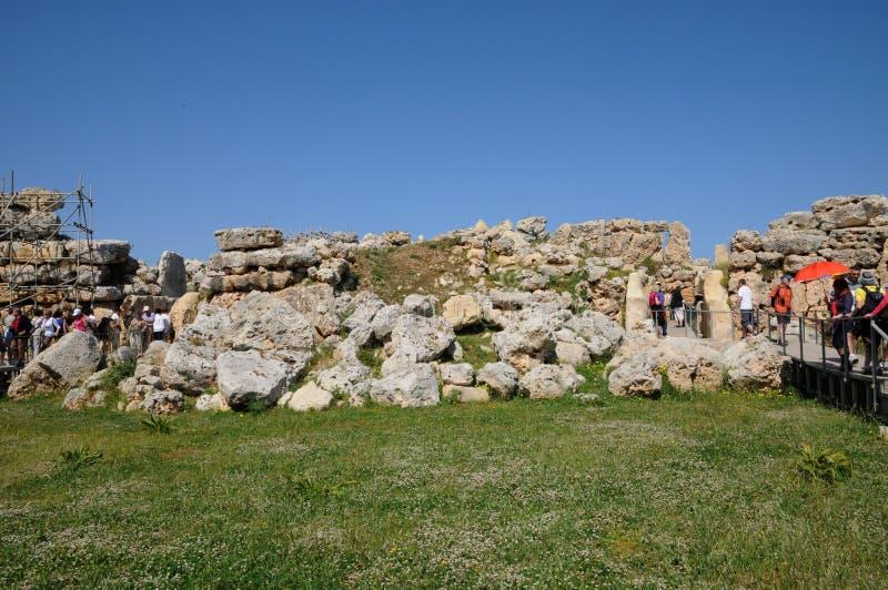 Μάλτα, ο γραφικός ναός Ggantija σε Gozo στοκ φωτογραφίες με δικαίωμα ελεύθερης χρήσης