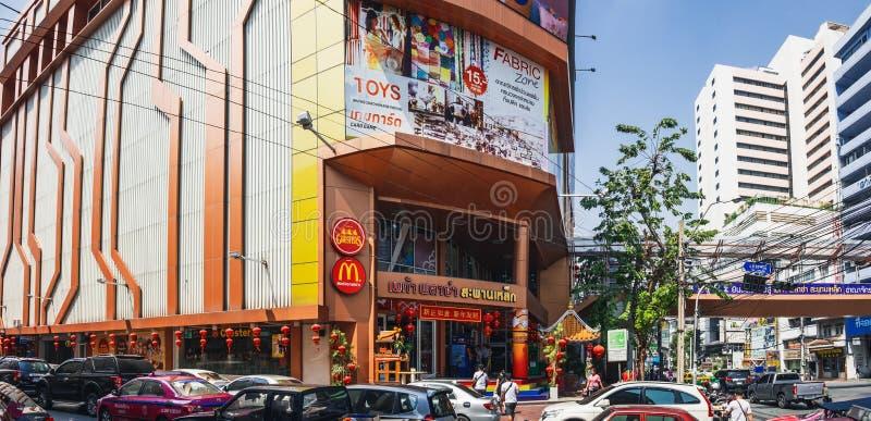 Μέγα λεωφόρος αγορών plaza σε Chinatown, Μπανγκόκ στοκ εικόνες
