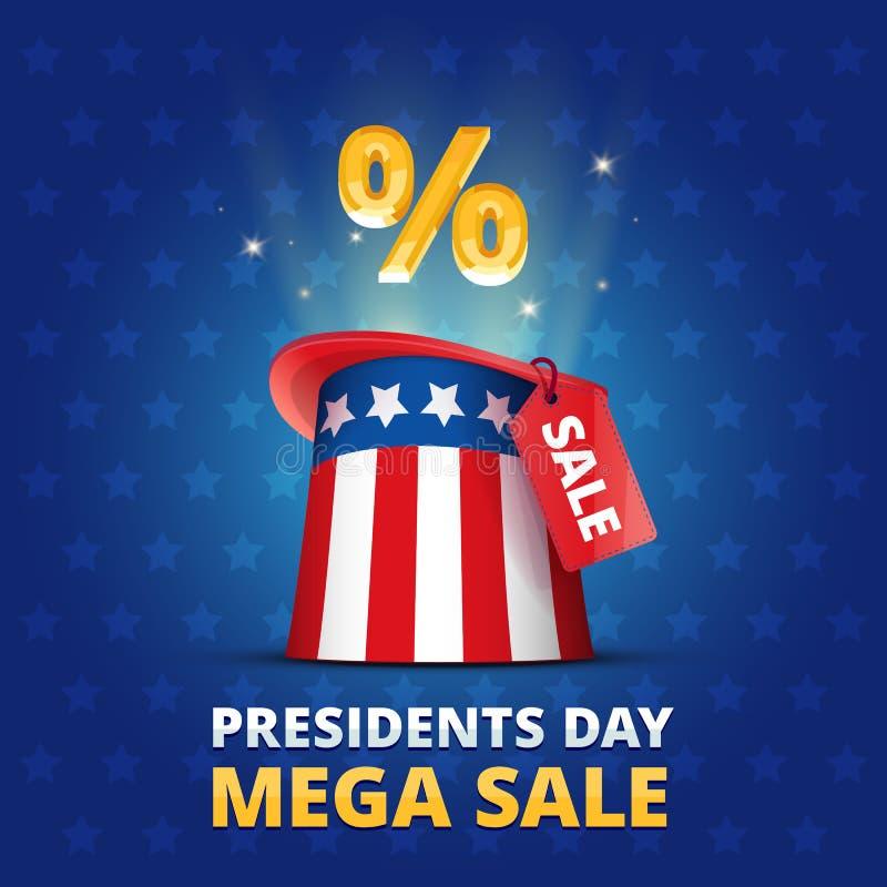 ΜΈΓΑ ΠΏΛΗΣΗ ημέρας Προέδρων αφισών ΗΠΑ διανυσματική απεικόνιση