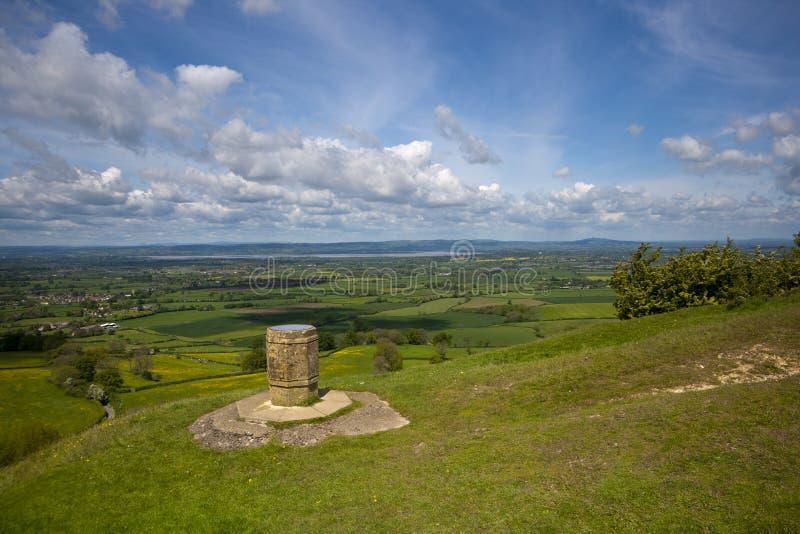 Μέγιστη άποψη Coaley κοντά σε Nympsfield, Gloucestershire, UK στοκ εικόνα