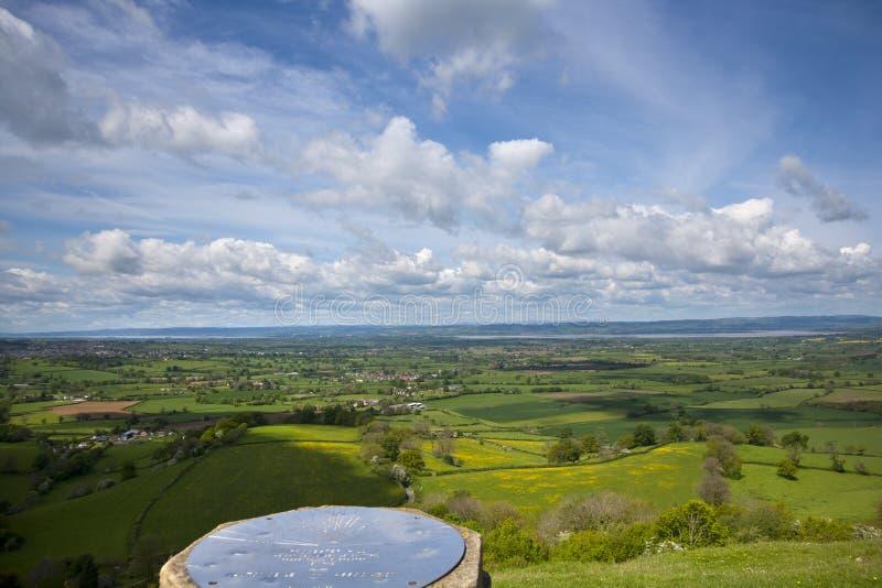 Μέγιστη άποψη Coaley κοντά σε Nympsfield, Gloucestershire, UK στοκ φωτογραφία με δικαίωμα ελεύθερης χρήσης