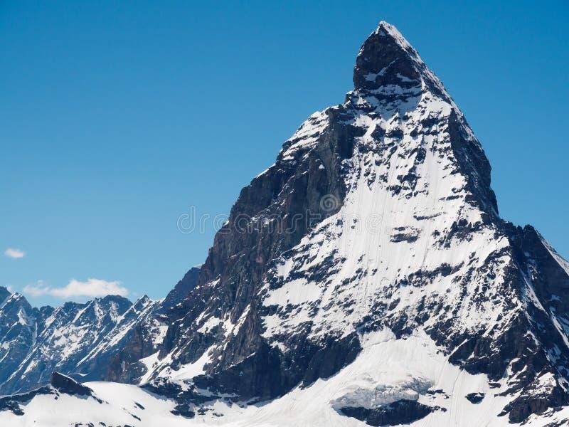 Μέγιστη άποψη Matterhorn από το σταθμό τρένου gornergrat, στοκ εικόνα με δικαίωμα ελεύθερης χρήσης