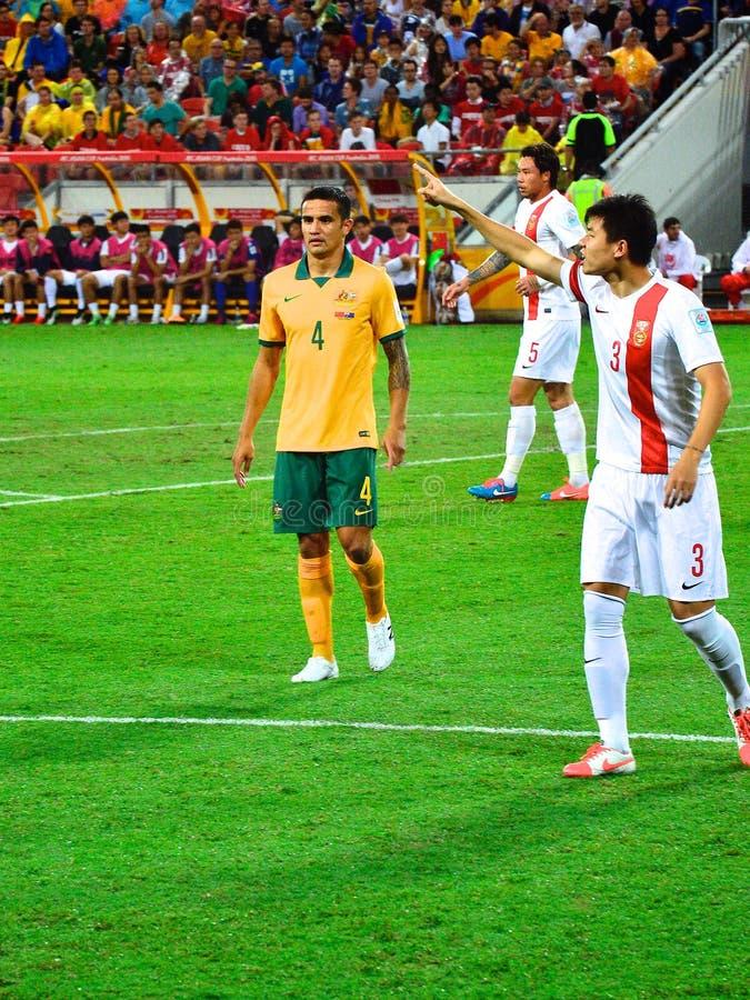 Μέγιστος αυστραλιανός ποδοσφαιριστής Cahill Tim στοκ εικόνες