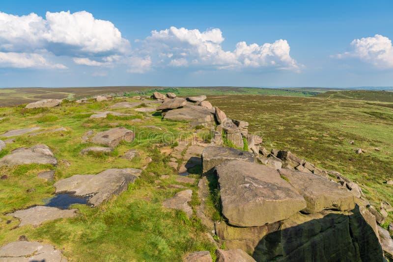 Μέγιστο τοπίο περιοχής στην άκρη Stanage, Derbyshire, Αγγλία, UK στοκ φωτογραφίες